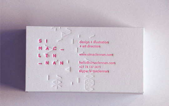 44 More Clean And White Business Cards For Your Inspiration 26