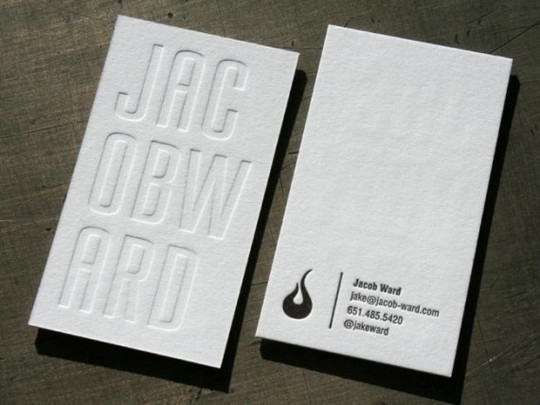 44 More Clean And White Business Cards For Your Inspiration 12
