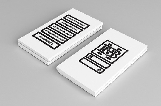 44 More Clean And White Business Cards For Your Inspiration 40
