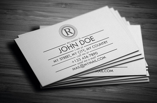 44 More Clean And White Business Cards For Your Inspiration 43