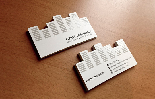 44 More Clean And White Business Cards For Your Inspiration 2