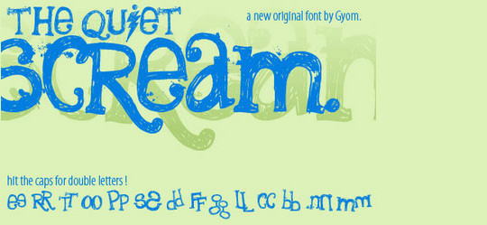 40 Creative And Free Hand Drawn Fonts 24