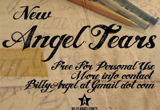 40 Creative And Free Hand Drawn Fonts 20