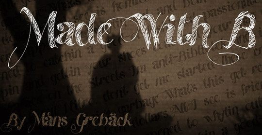 40 Creative And Free Hand Drawn Fonts 25