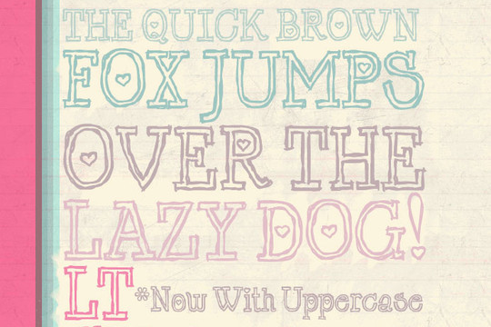 40 Creative And Free Hand Drawn Fonts 28