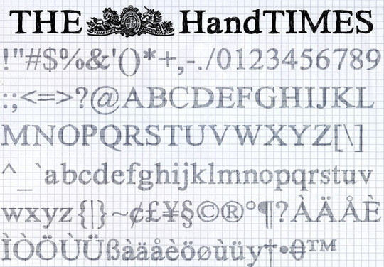 40 Creative And Free Hand Drawn Fonts 39