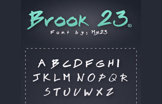 40 Creative And Free Hand Drawn Fonts 40