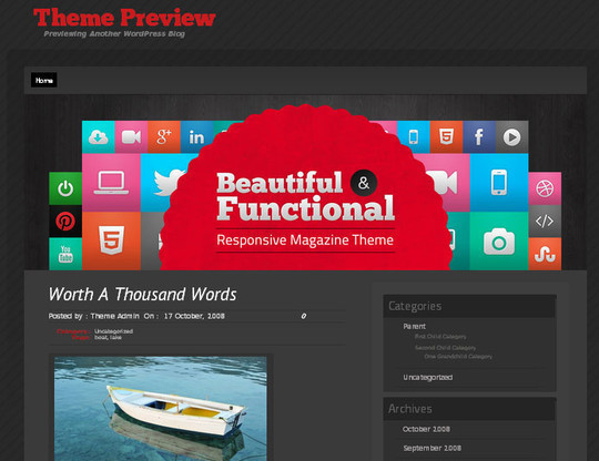15 Free And Awesome Responsive WordPress Themes 14