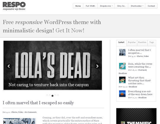 15 Free And Awesome Responsive WordPress Themes 15