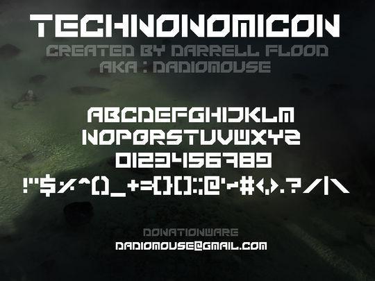 44 Free Sci-Fi & Techno Fonts For Creative Designer 42