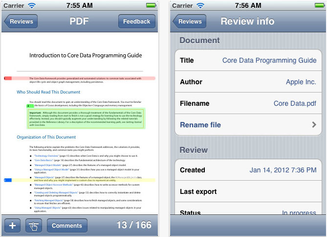 11 Free Tools To Annotate PDF Documents For iPhone And iPad 3