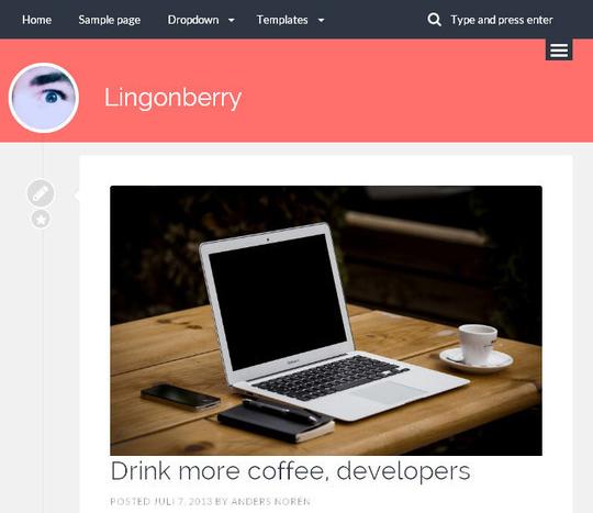45 Fresh And Free Wordpress Themes 6