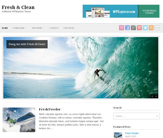 45 Fresh And Free Wordpress Themes 40