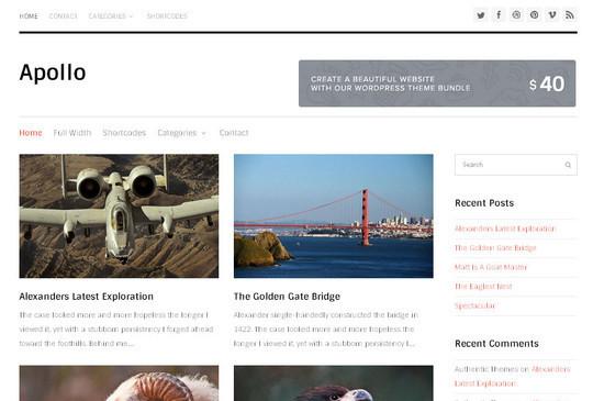 45 Fresh And Free Wordpress Themes 43
