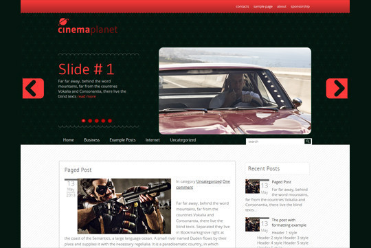 45 Fresh And Free Wordpress Themes 45