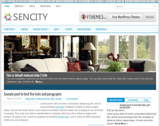 45 Fresh And Free Wordpress Themes 23