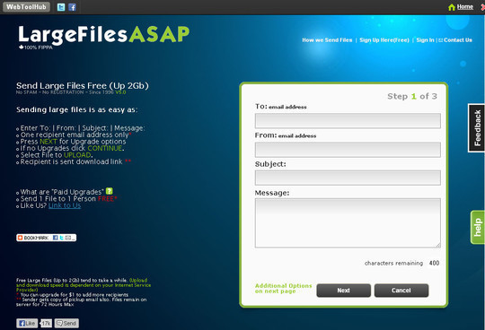 15 Free Tools to Send Or Receive Large Files 5