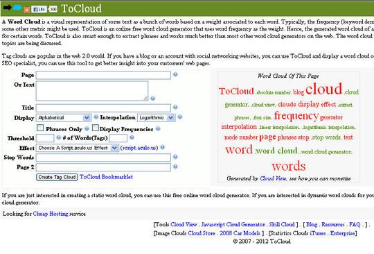 10 Amazing Word Cloud Generators 10