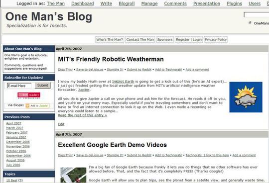 Top 40 Wordpress Plugins For Blog Administrators 7