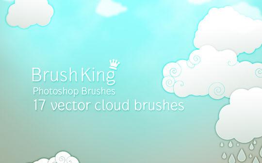 15 Free Cloud Vector Brush Sets 4
