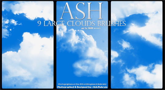 15 Free Cloud Vector Brush Sets 2