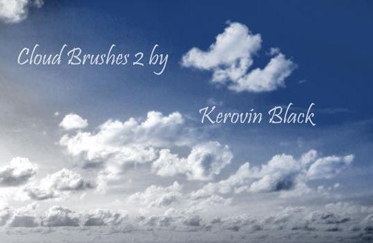 15 Free Cloud Vector Brush Sets 13