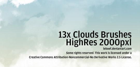 15 Free Cloud Vector Brush Sets 5