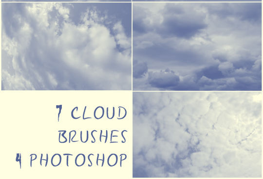 15 Free Cloud Vector Brush Sets 6