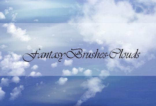 15 Free Cloud Vector Brush Sets 9