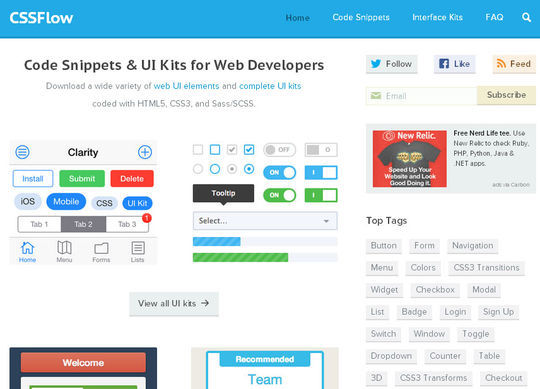 Useful Collection Of Free CSS Libraries & Resources 28