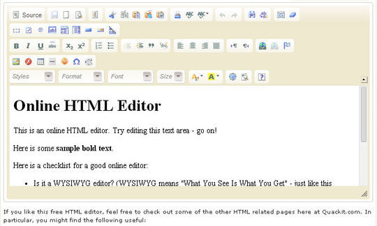 40 Excellent Online Real-Time HTML Editors 12