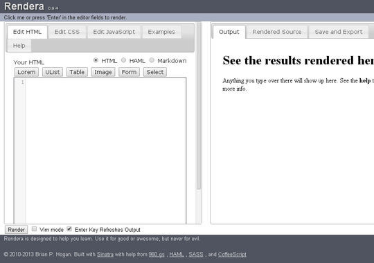 40 Excellent Online Real-Time HTML Editors 6