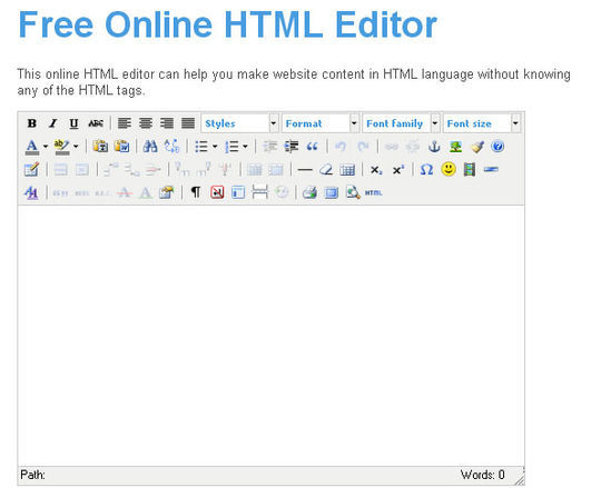 40 Excellent Online Real-Time HTML Editors 10
