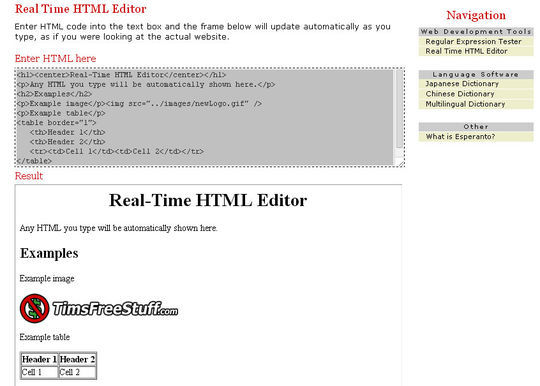 40 Excellent Online Real-Time HTML Editors 14