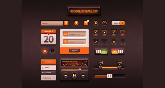 45 Fresh And Free Web User Interface Photoshop Files 114