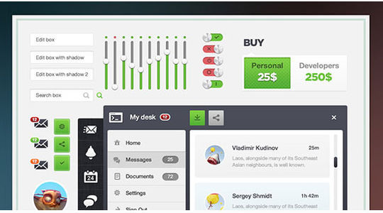 45 Fresh And Free Web User Interface Photoshop Files 45