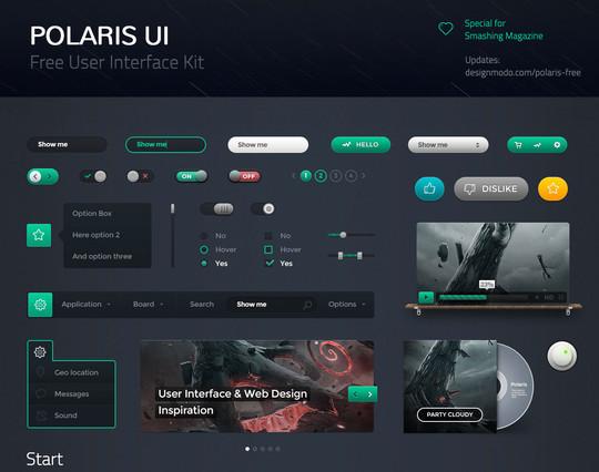50 Free Flat UI Kits For User Interface Designers 3
