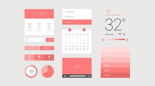 50 Free Flat UI Kits For User Interface Designers 14