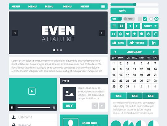 50 Free Flat UI Kits For User Interface Designers 4