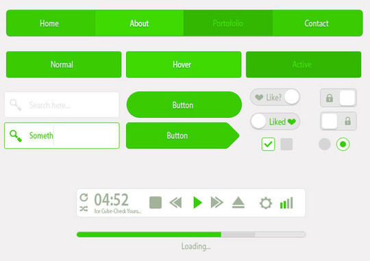 50 Free Flat UI Kits For User Interface Designers 8