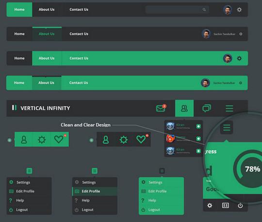 50 Free Flat UI Kits For User Interface Designers 21