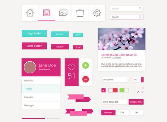 50 Free Flat UI Kits For User Interface Designers 25