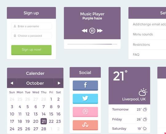 50 Free Flat UI Kits For User Interface Designers 29