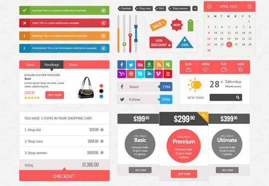 50 Free Flat UI Kits For User Interface Designers 31