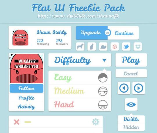50 Free Flat UI Kits For User Interface Designers 27