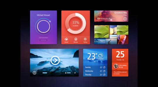 50 Free Flat UI Kits For User Interface Designers 33