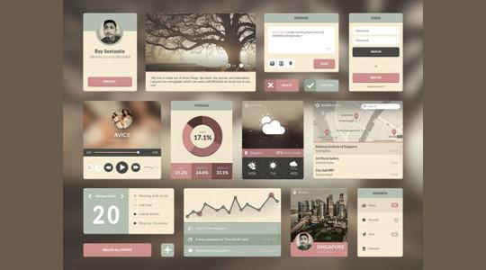 50 Free Flat UI Kits For User Interface Designers 34