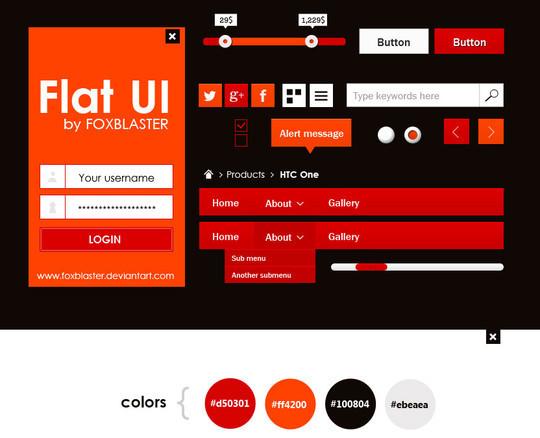 50 Free Flat UI Kits For User Interface Designers 35