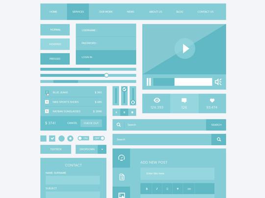 50 Free Flat UI Kits For User Interface Designers 36