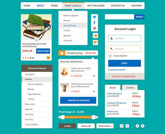 50 Free Flat UI Kits For User Interface Designers 42